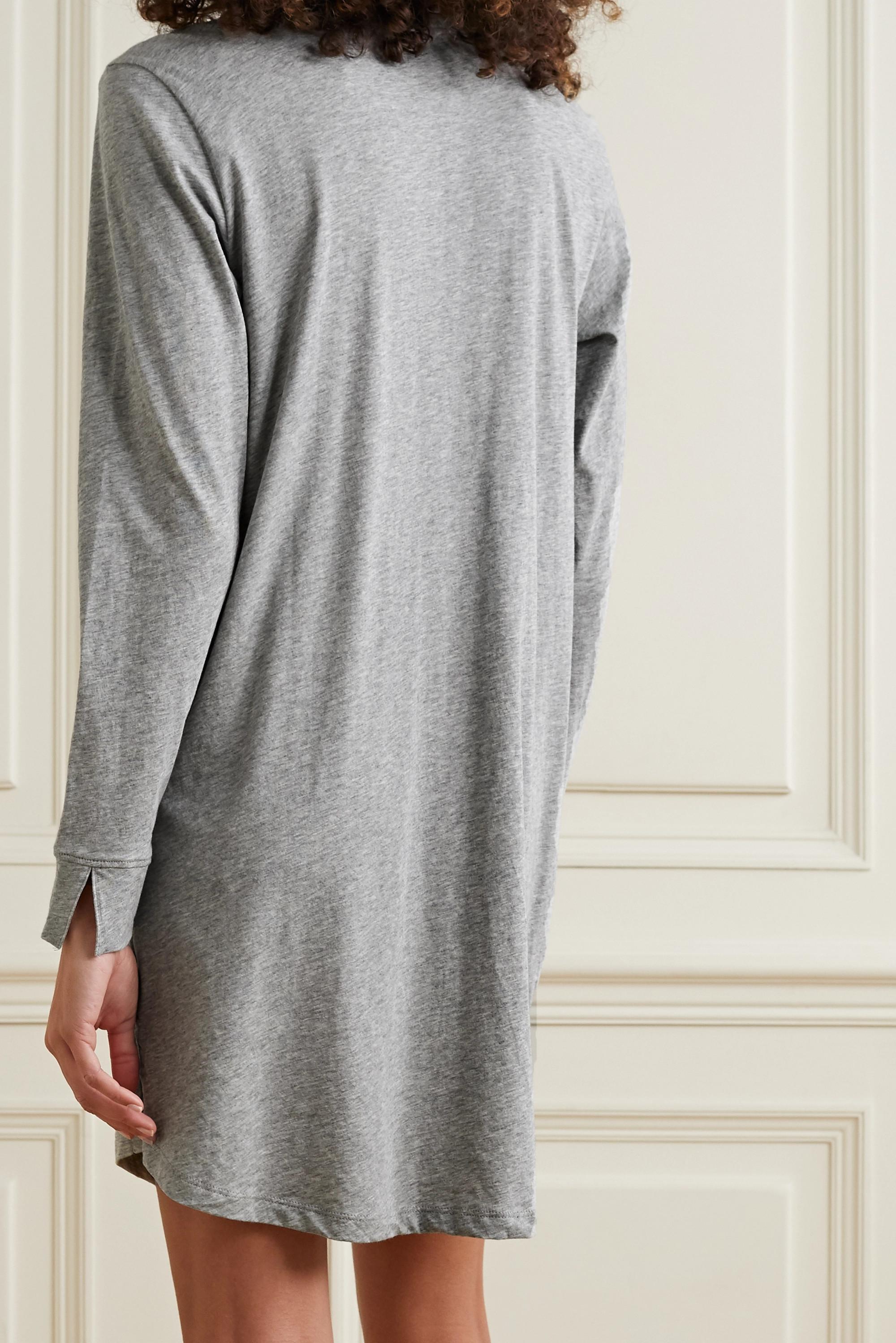 Skin + NET SUSTAIN Cecilia organic Pima cotton-jersey nightdress