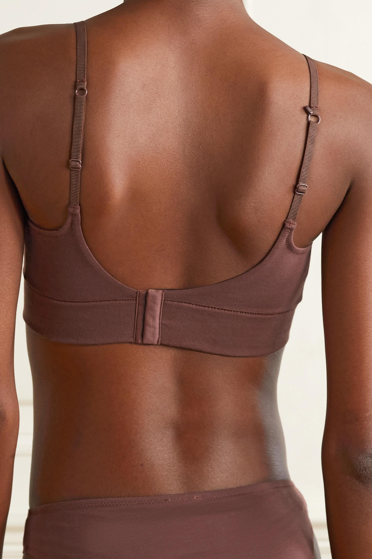 Skin + NET SUSTAIN Gita organic Pima cotton-blend jersey bralette