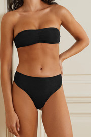 Skin + NET SUSTAIN Grecia cutout stretch organic Pima cotton-jersey briefs