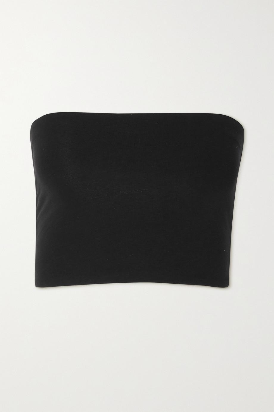 Skin + NET SUSTAIN Luna Bandeau-Oberteil aus Bio-Pima-Baumwolle mit Stretch-Anteil
