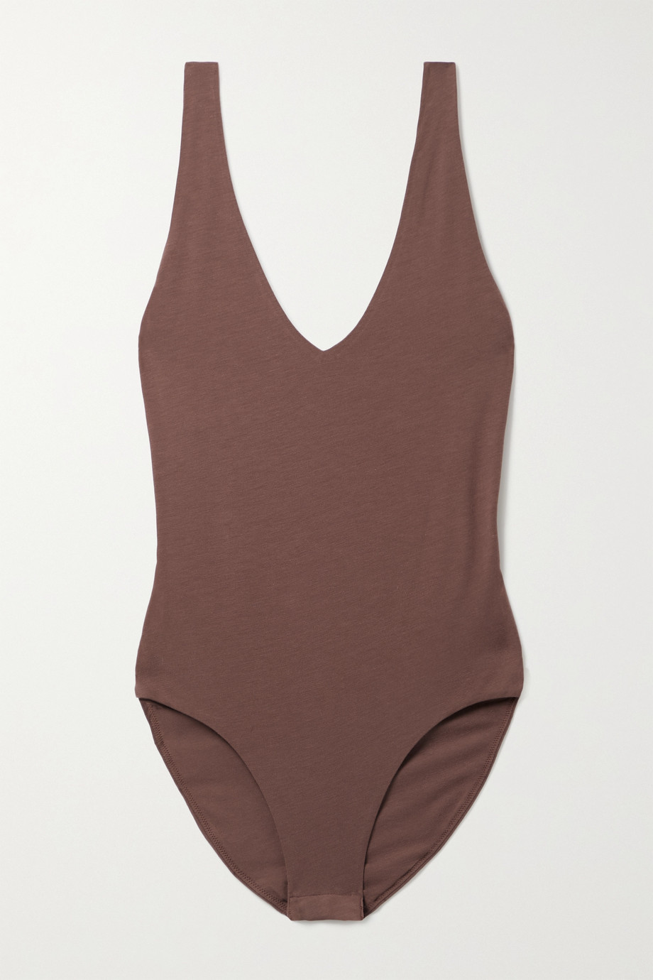Skin Selene stretch organic Pima cotton-jersey bodysuit