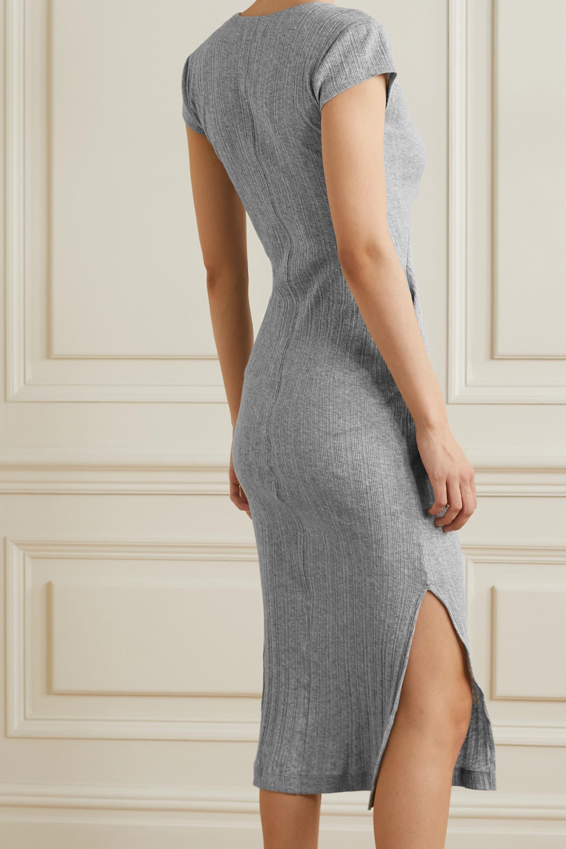 Skin + NET SUSTAIN Rabia ribbed organic Pima cotton-jersey nightdress