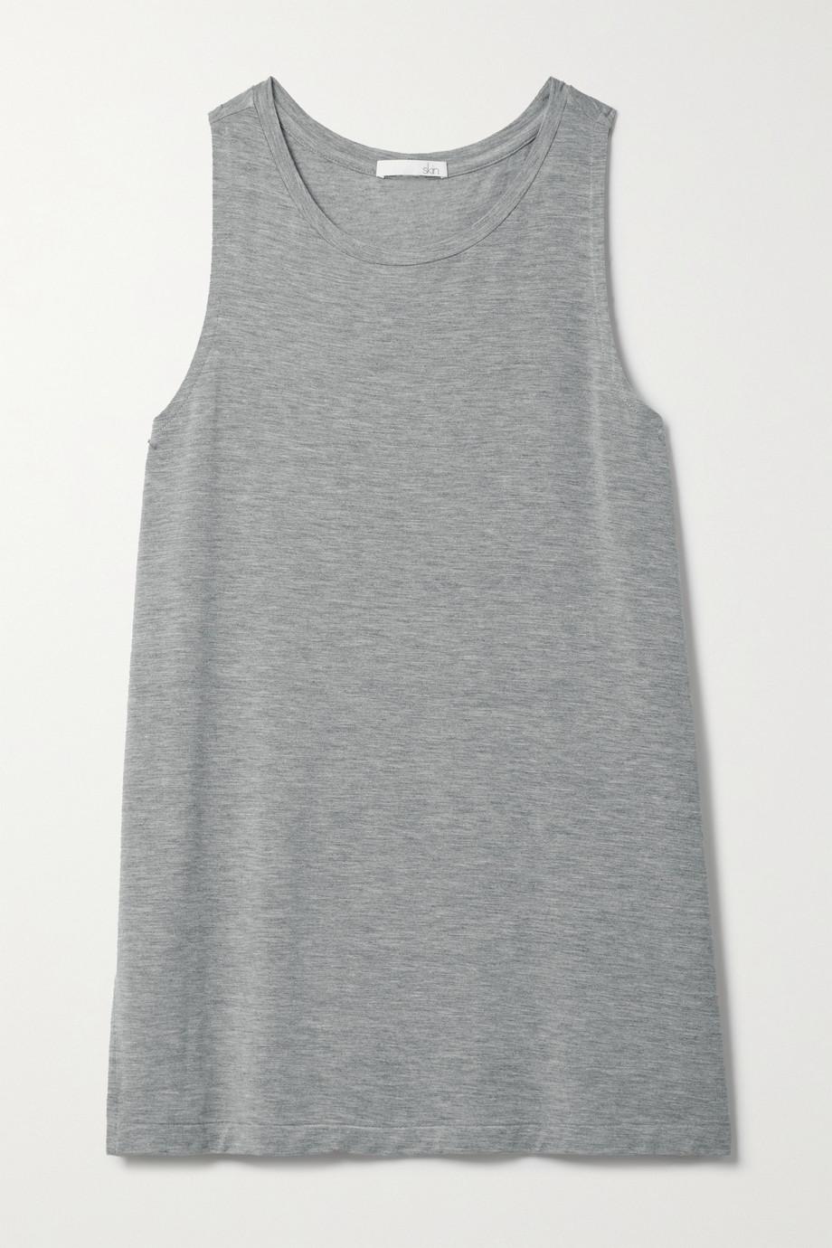Skin Linor Tanktop aus meliertem Stretch-Jersey