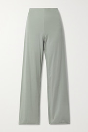 Skin + NET SUSTAIN Athena reversible organic Pima cotton-blend jersey pajama pants