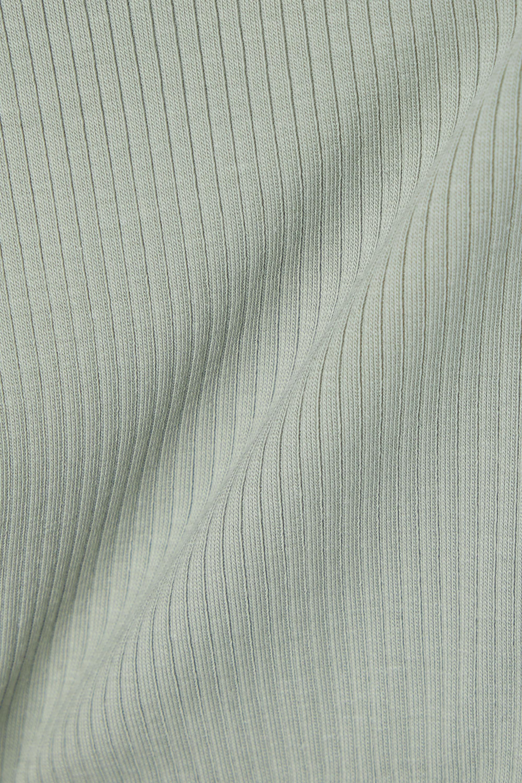 Skin + NET SUSTAIN India verkürztes Oberteil aus geripptem Bio-Pima-Baumwoll-Jersey mit Stretch-Anteil