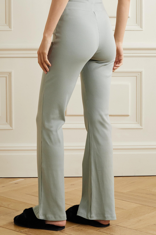 Skin + NET SUSTAIN Ilena ribbed stretch-organic Pima cotton jersey track pants