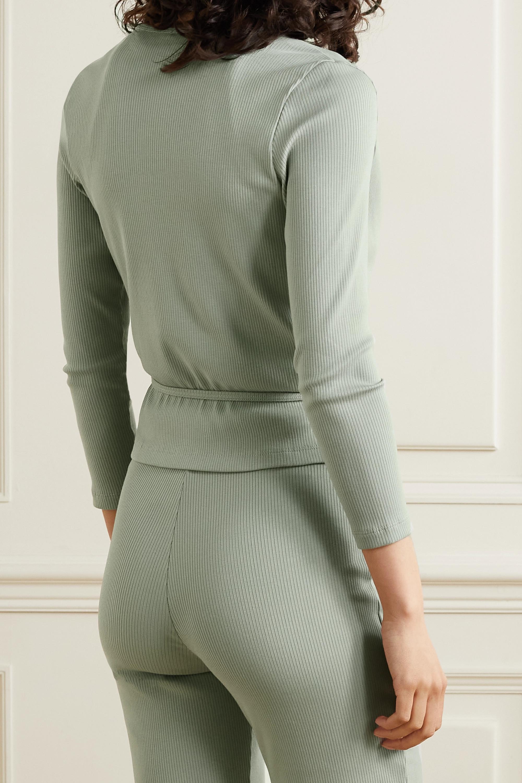 Skin + NET SUSTAIN Isabel Wickeloberteil aus geripptem Bio-Pima-Baumwoll-Jersey mit Stretch-Anteil