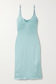 Skin Tess washed silk-blend satin chemise