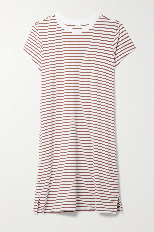Skin + NET SUSTAIN Madina Nachthemd aus einer gestreiften Bio-Pima-Baumwoll-Modalmischung mit Stretch-Anteil