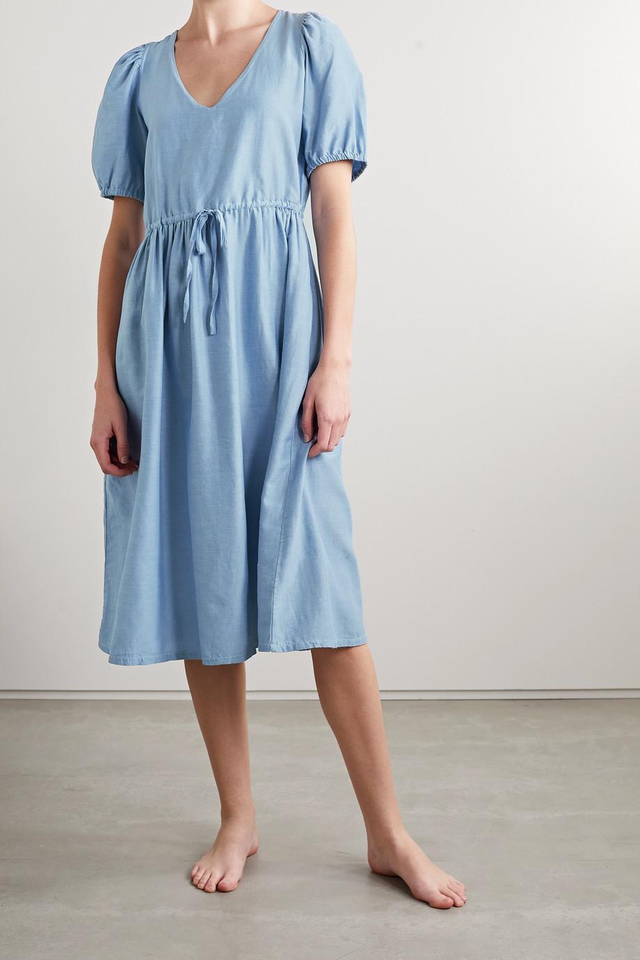 Skin + NET SUSTAIN Raina organic cotton and silk-blend voile midi dress