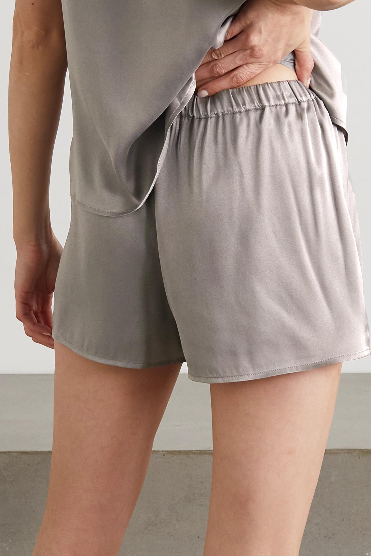 Skin + NET SUSTAIN Trista Shorts aus Bioseidensatin mit Stretch-Anteil