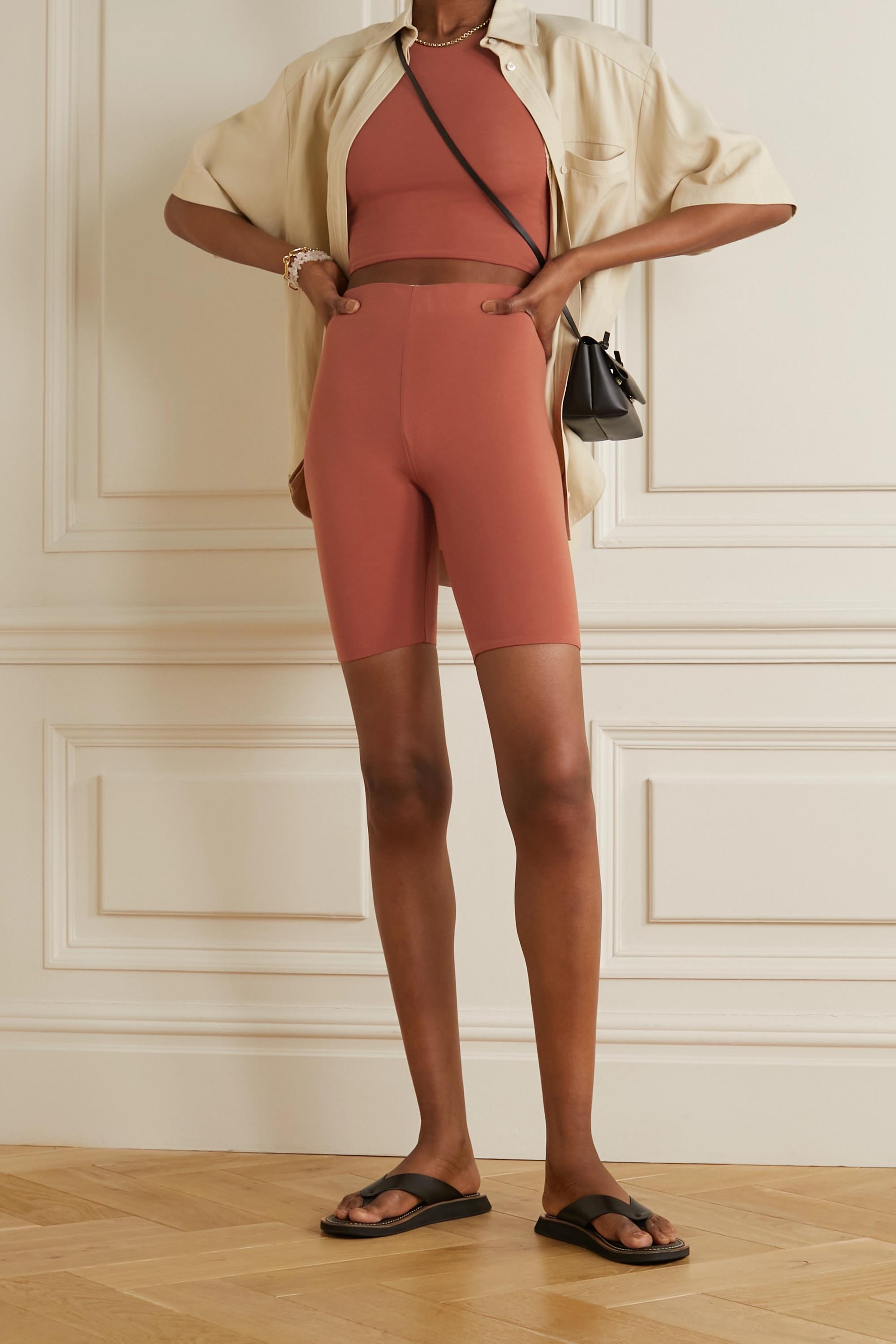 Skin + NET SUSTAIN Aphrodite wendbare Shorts aus Bio-Pima-Baumwoll-Jersey mit Stretch-Anteil