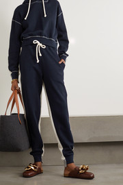 JW Anderson Paneled cotton-jersey track pants