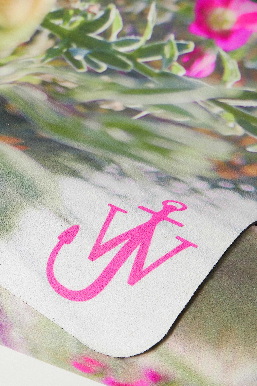 JW Anderson Yogamatte mit Blumenprint und Tasche aus Canvas mit Lederbesätzen