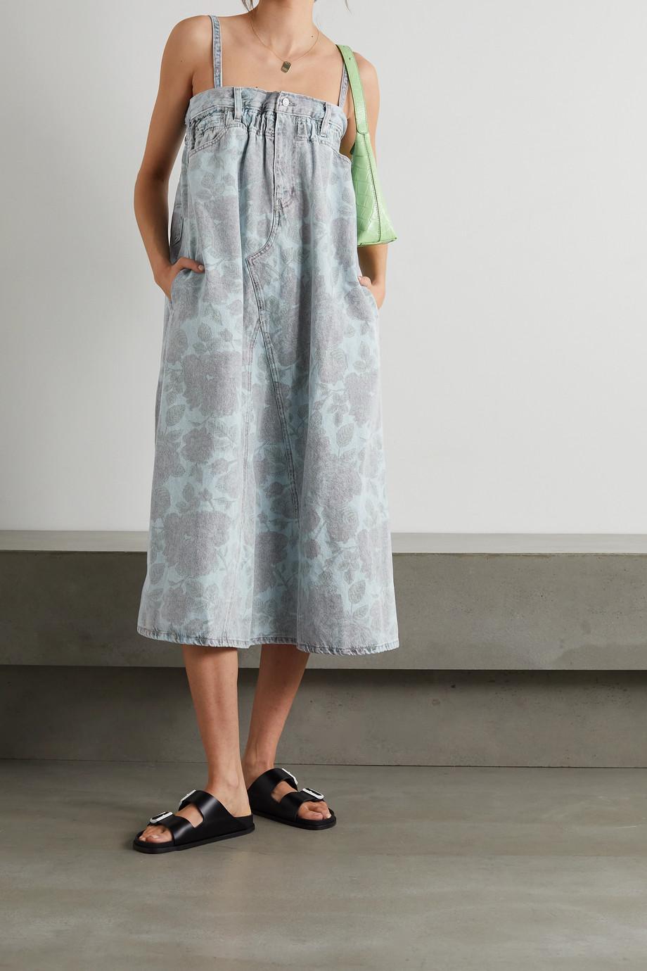 GANNI + Levi's floral-print denim midi dress