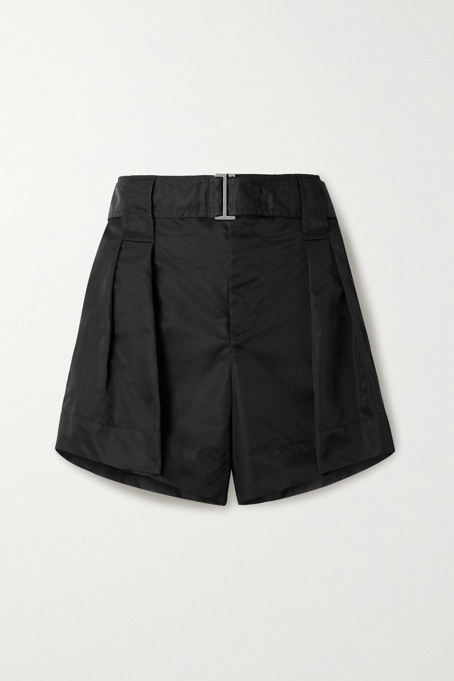 GANNI Belted shell shorts