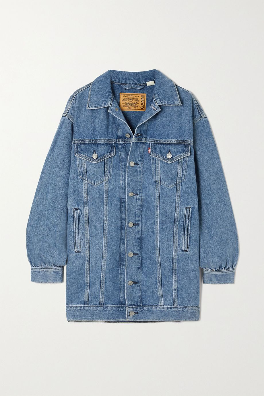 GANNI Mini-robe en jean x Levi's