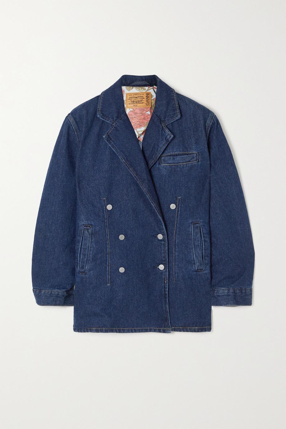 GANNI + Levi's double-breasted denim jacket