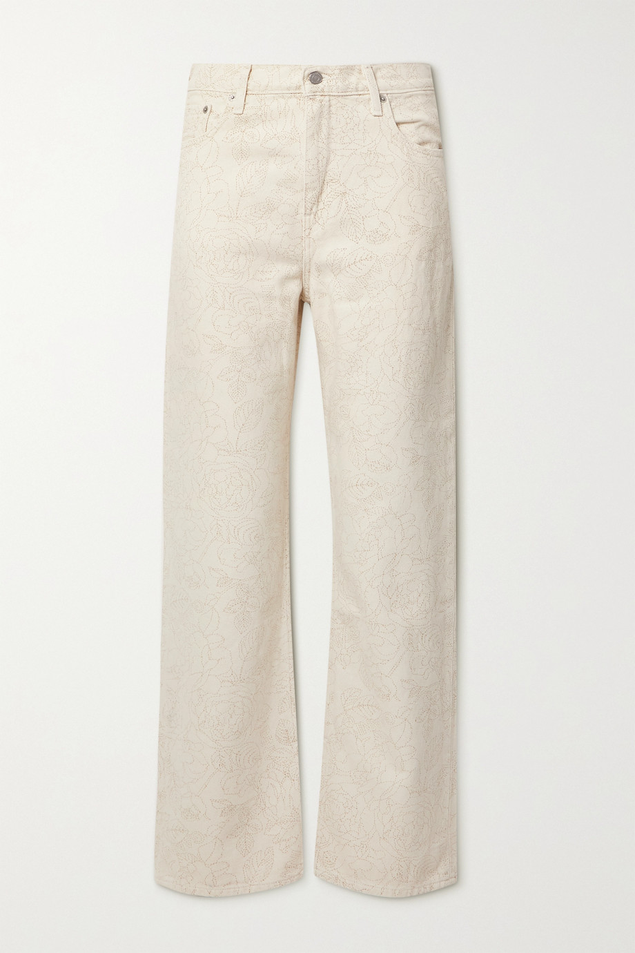 GANNI + Levi's floral-print mid-rise straight-leg jeans