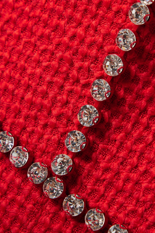 AREA Minikleid aus Tweed aus einer Wollmischung mit Kristallen