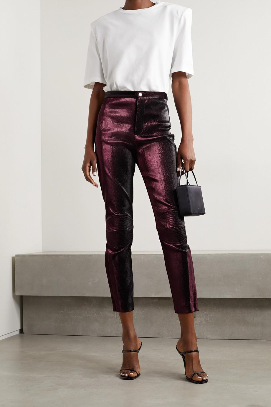 AREA Lurex skinny pants