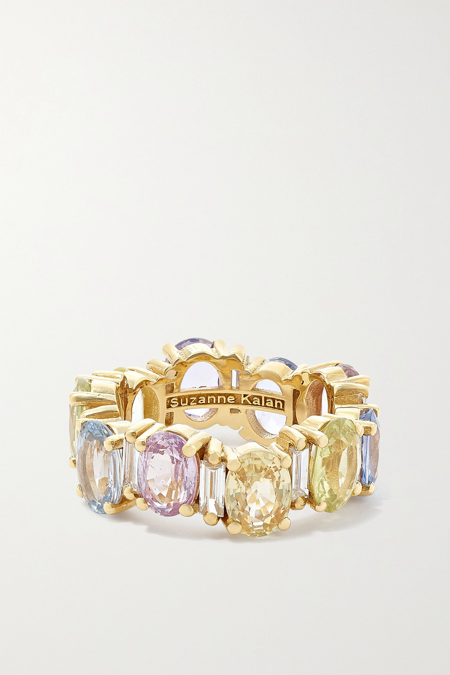 Suzanne Kalan Eternity 18-karat gold, sapphire and diamond ring