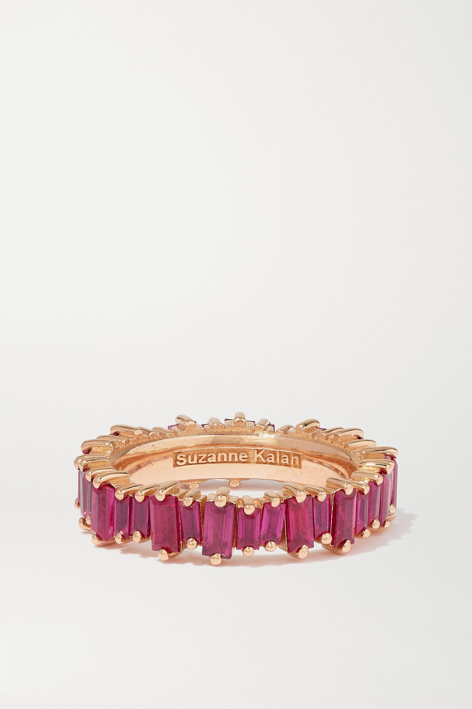 Suzanne Kalan 18-karat rose gold ruby ring