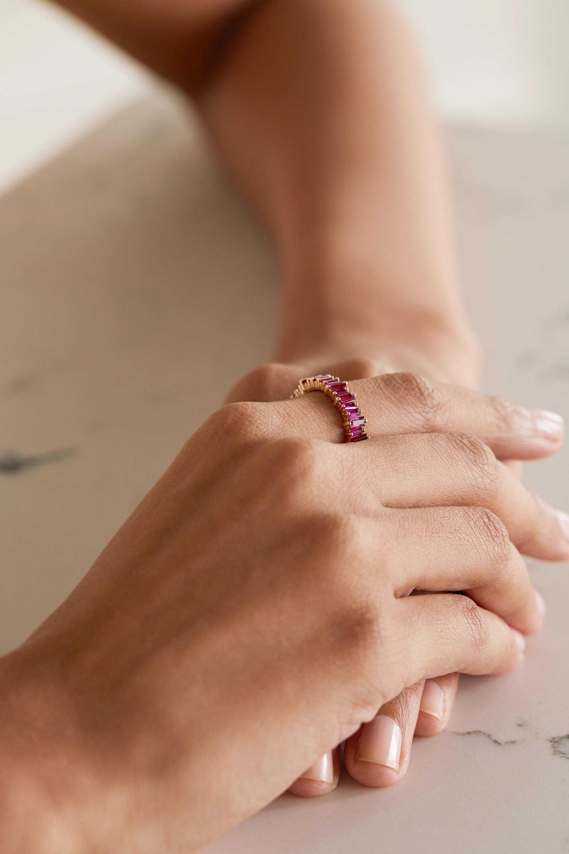 Suzanne Kalan 18-karat rose gold ruby ring