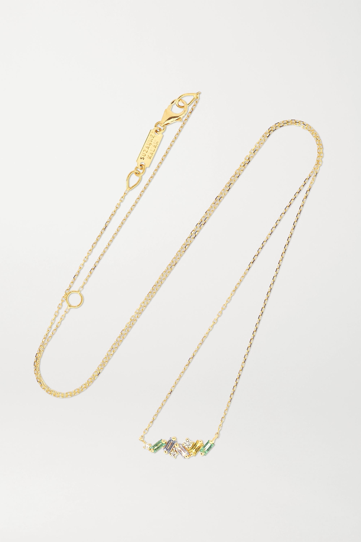 Suzanne Kalan Kette aus 18Karat Gold mit mehreren Steinen