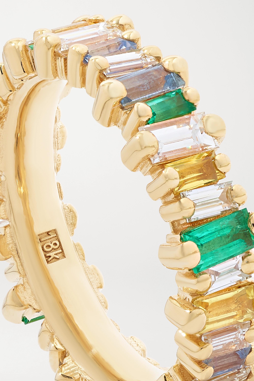 Suzanne Kalan Ring aus 18 Karat Gold mit mehreren Steinen