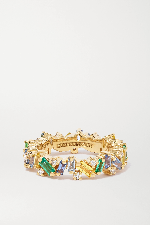 Suzanne Kalan 18-karat gold multi-stone ring