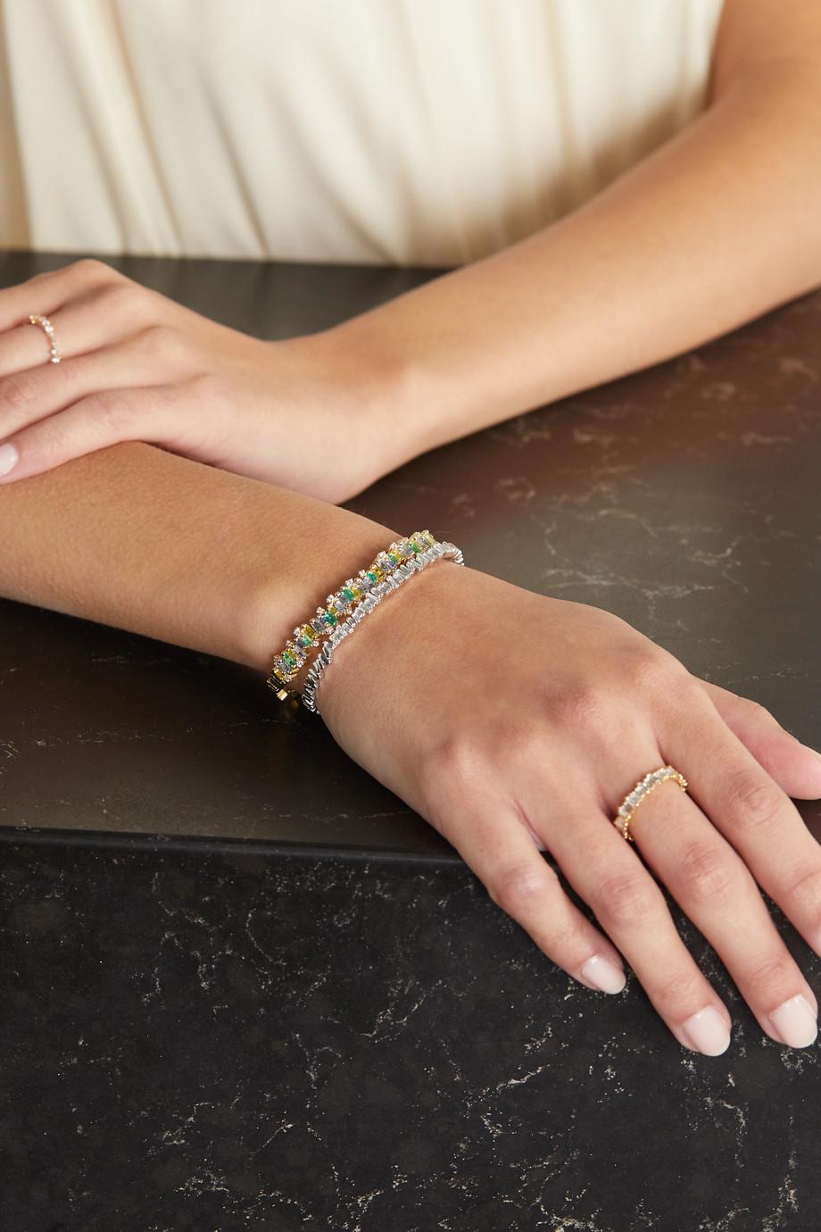 Suzanne Kalan 18-karat gold multi-stone cuff