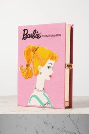 Olympia Le-Tan Barbie embroidered appliquéd canvas clutch