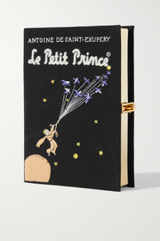 Olympia Le-Tan Le Petit Prince embroidered appliquéd canvas clutch