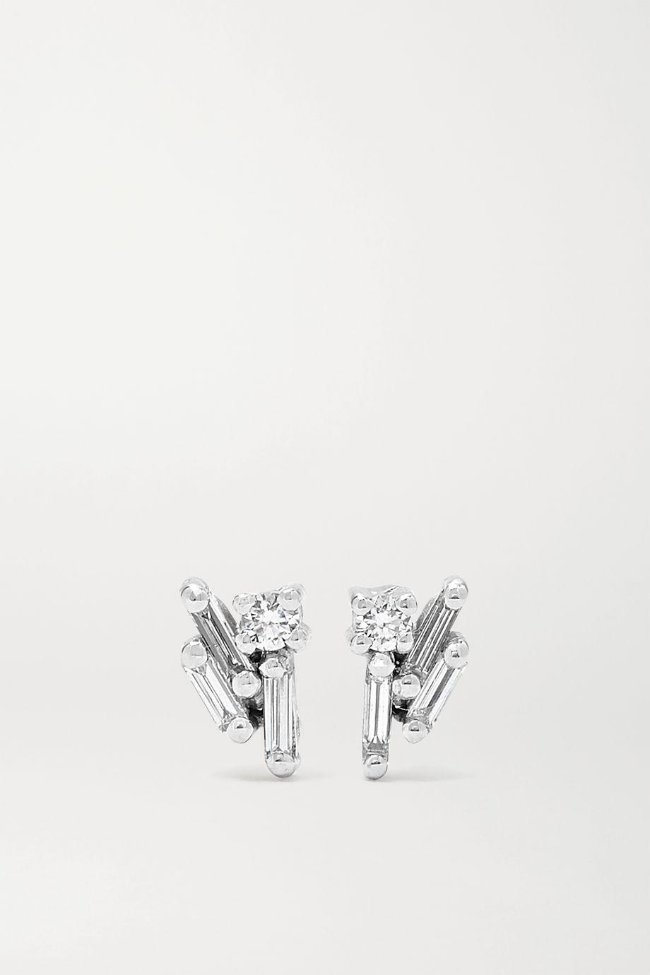 Suzanne Kalan 18K 白金钻石耳钉