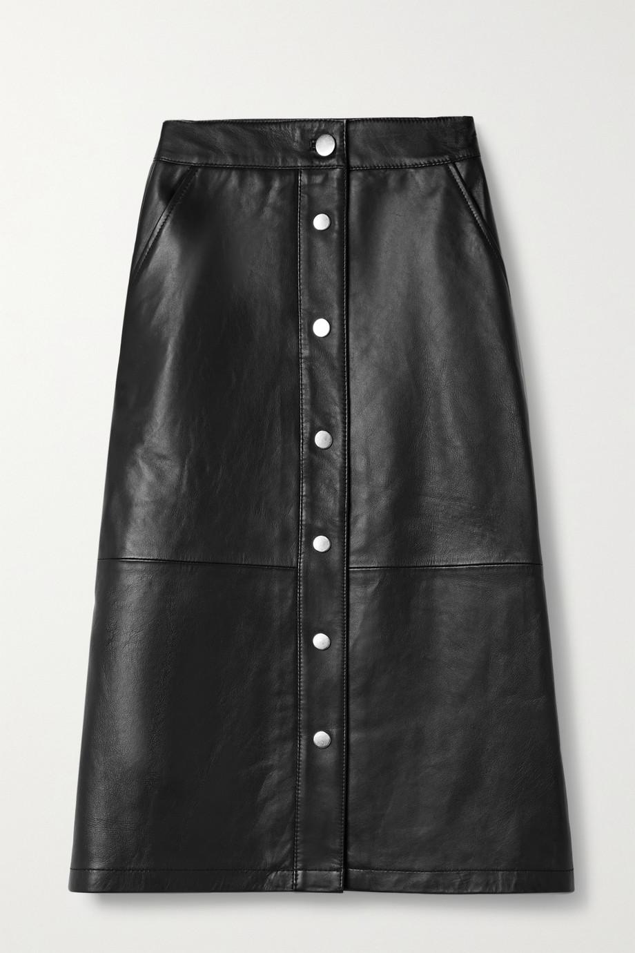 Deadwood Lara recycled leather skirt