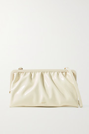 Oroton Celia patent-leather clutch
