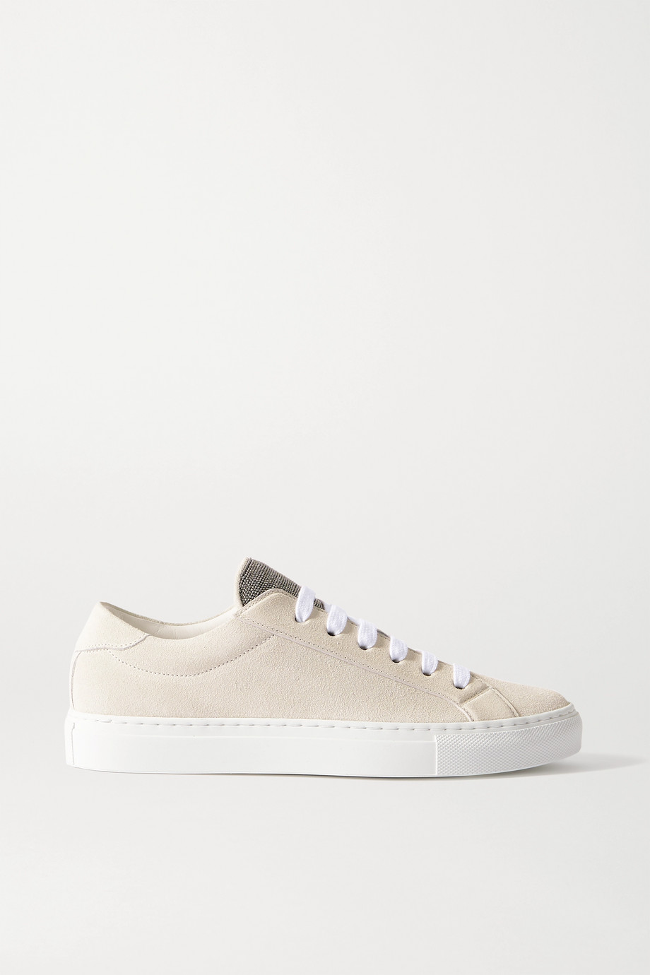 Brunello Cucinelli Bead-embellished suede sneakers