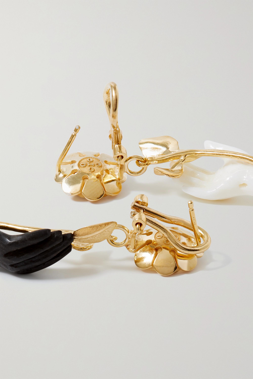 Of Rare Origin Hand in Hand gold vermeil multi-stone earrings