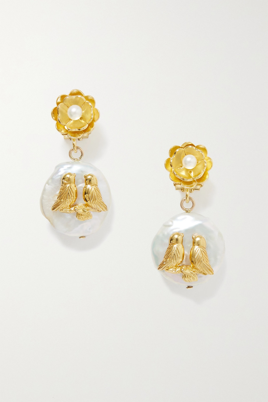 Of Rare Origin Inseparables gold vermeil pearl earrings
