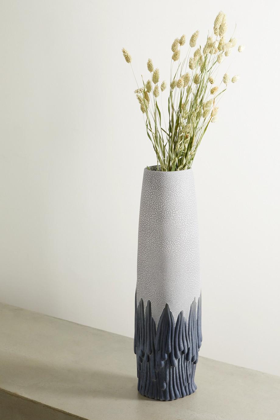 L'Objet + Haas Brothers Mojave mittelgroße Vase aus Ton