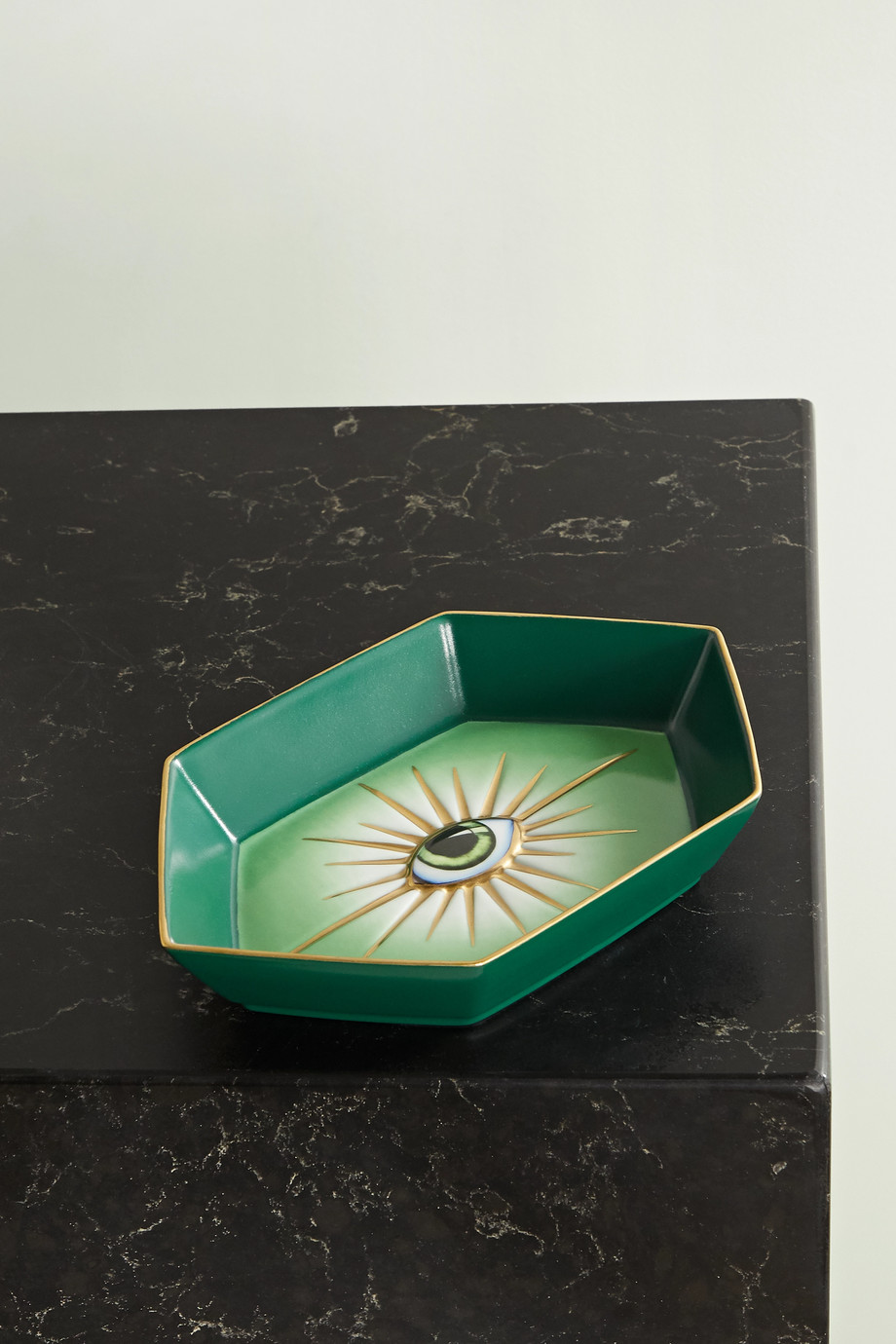 L'Objet + Lito gold-plated porcelain and resin dish