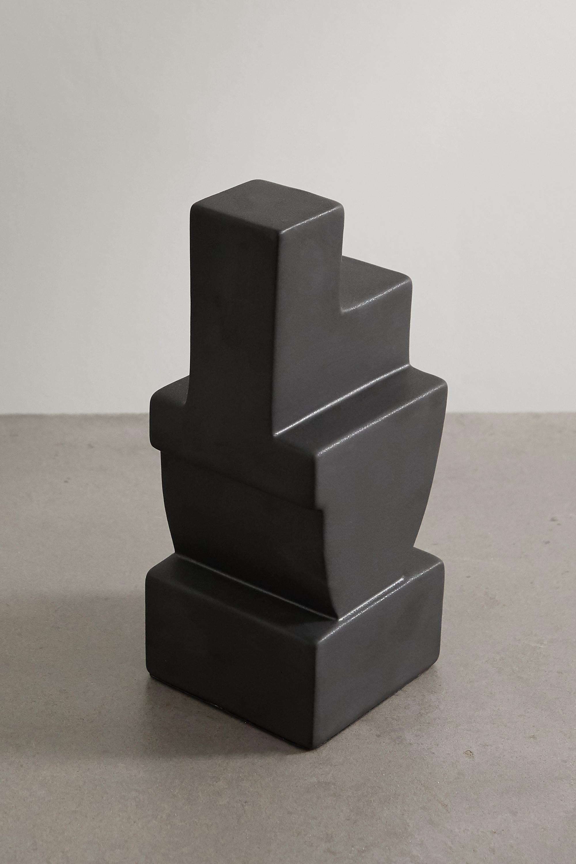 L'Objet Cubisme Two earthenware bookend