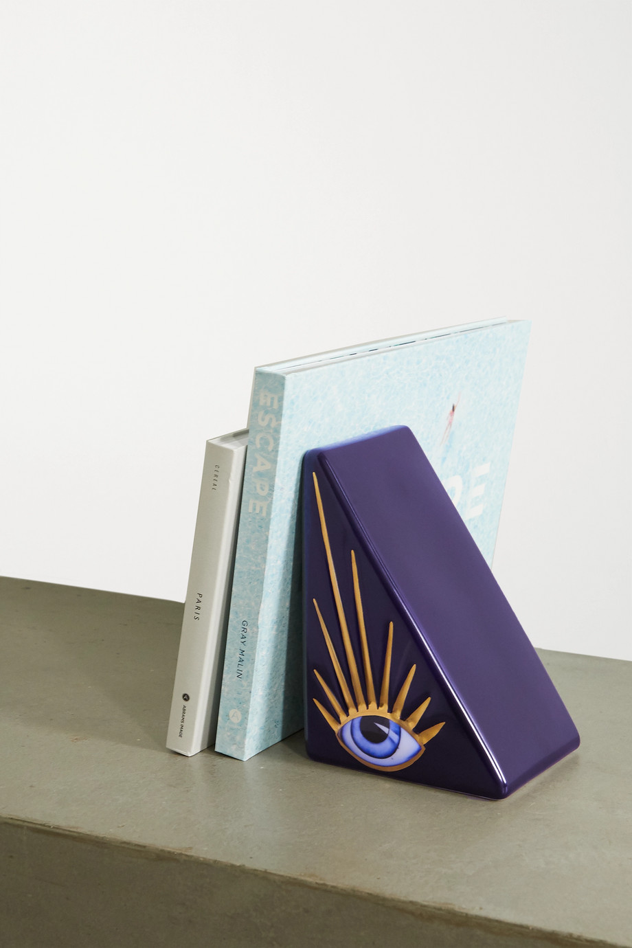 L'Objet + Lito porcelain, gold-plated and resin bookend