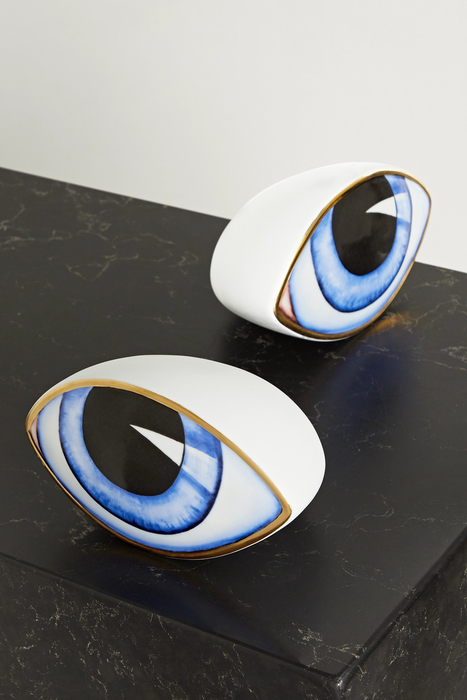 L'Objet + Lito gold-plated porcelain and resin paperweight