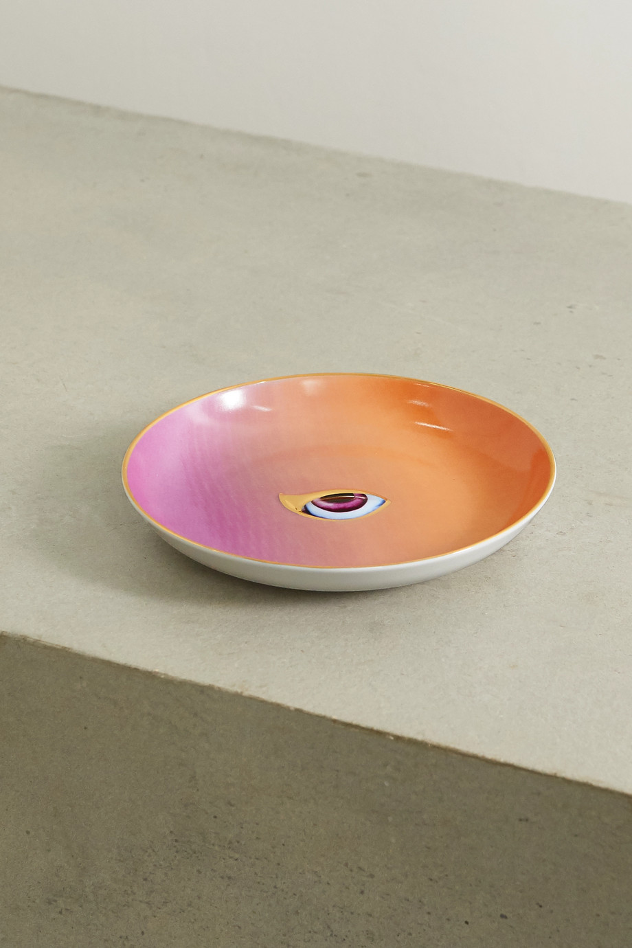 L'Objet + Lito gold-plated porcelain and resin plate