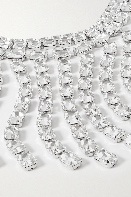 AREA Silberfarbener Choker mit Kristallen