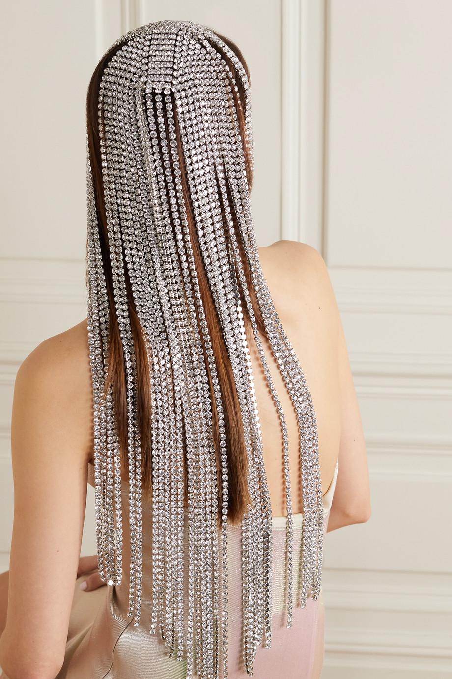 AREA Silberfarbener Kopfschmuck mit Kristallen