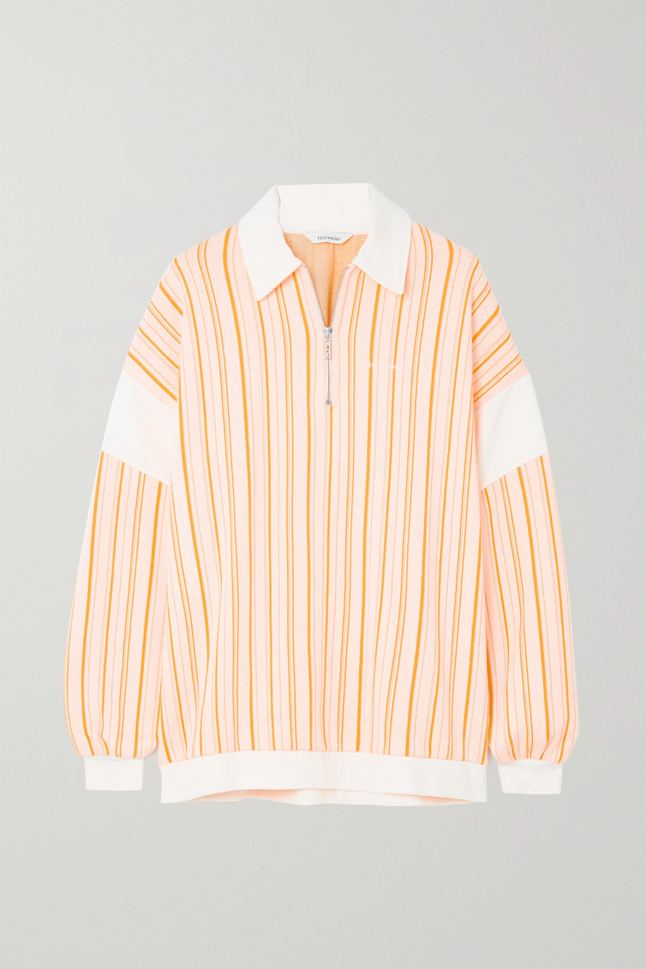 Holzweiler Lunden Sweatshirt aus einer gestreiften Baumwollmischung