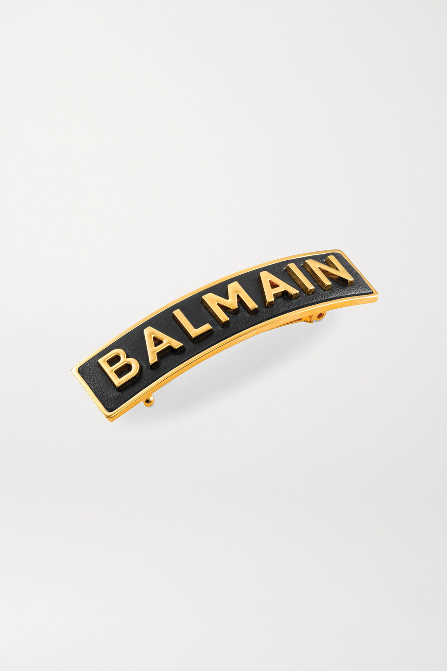 Balmain Paris Hair Couture Gold-plated and leather hair clip